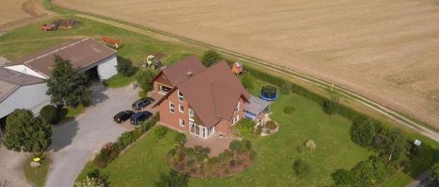 Luftbild vom Eigenheim