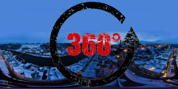 360°Nachtpanorama Burghausen