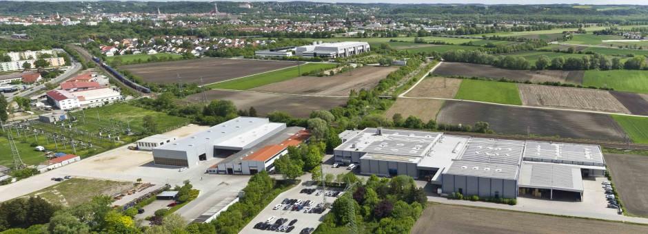 Luftbild der Firma LWB Steinl in Landshut