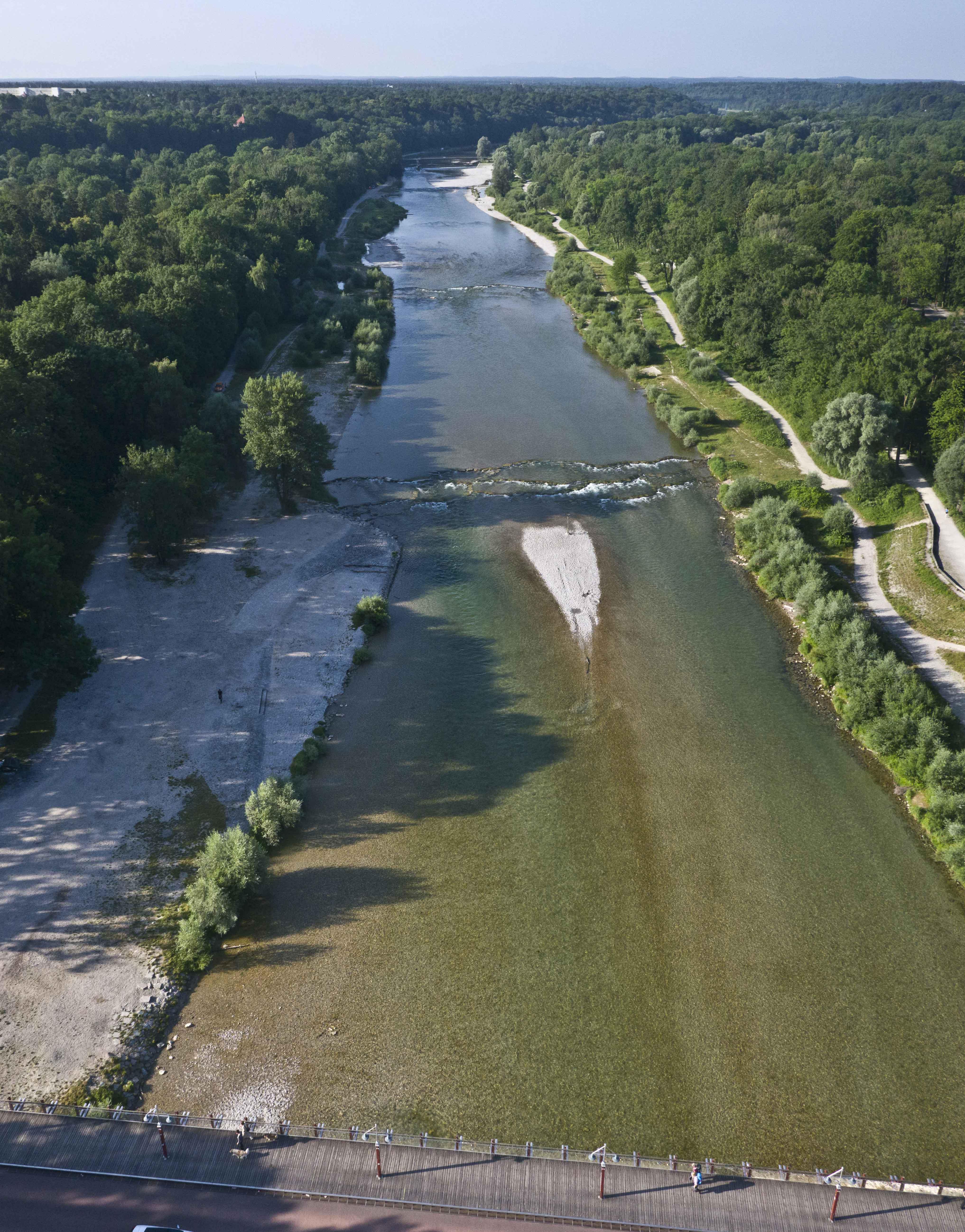 Luftaufnahmen München – vom Isarufer für das Baureferat