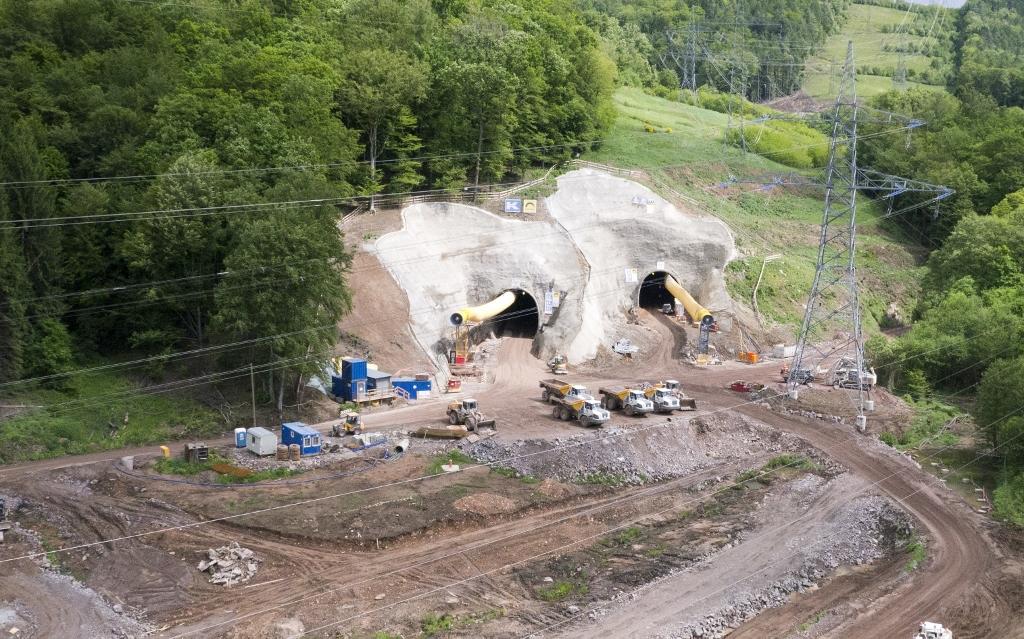 Luftaufnahmen/Baustellendokumentation/Umfahrung Schwarzkopftunnel
